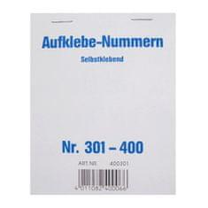 Wolf & Appenzeller Čísla samolepící , Čísla 301-400
