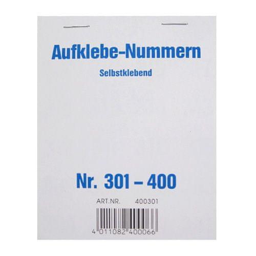 Wolf & Appenzeller Čísla samolepiace , Čísla 301-400