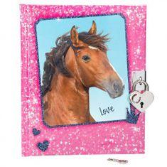 Denníček so zámkom Horses Dreams, Ružový