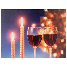 Idena Obraz , motív pohárov s vínom, 30 x 40 cm