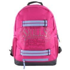 7Skills Batoh , RůžovRůžový - designový batoh se skate popruhyý