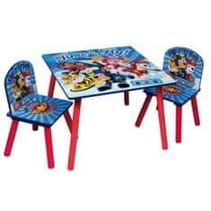 Cdiscount dětský stůl + 2 židle Tlapková patrola
