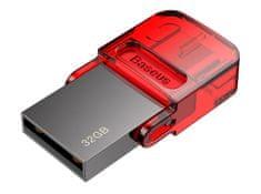 BASEUS Red-Hat flash disk USB/USB-C, 32 GB, červená (ACAPIPH-EA9)