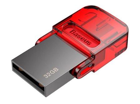BASEUS dysk flash Red-Hat USB/USB-C, 32 GB, czerwony (ACAPIPH-EA9)