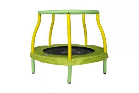 Aga Trampolina dziecięca do pokoju 116 cm Light Green/Yellow