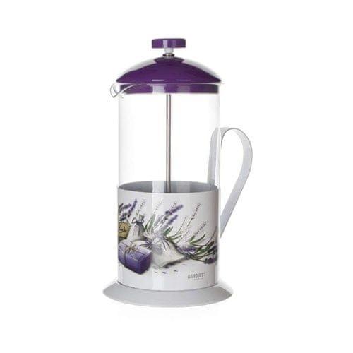 Banquet Konvice na kávu LAVENDER 1 l, fialové víko - zánovní