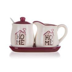 Banquet zestaw ceramiczny - cukierniczka i dzbanek na mleko HOME Coll. 4 elementy