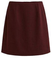 VILA Dámská sukně VIOLAU NEW MINI SKIRT Tawny Port