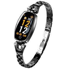 Smartomat Chicband, smartwatch (inteligentny zegarek), czarny
