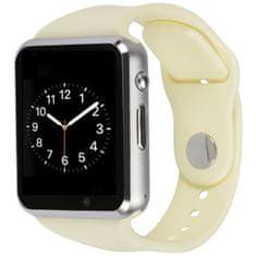 Smartomat Squarz 1, smartwatch (inteligentny zegarek), biały