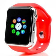 Smartomat Squarz 1, smartwatch (inteligentny zegarek), czerwony