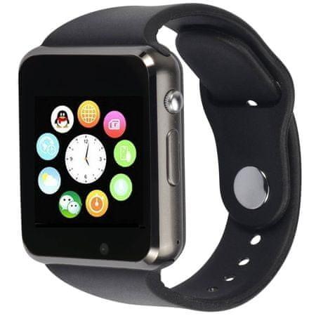 Squarz 1, smartwatch (inteligentny zegarek), czarny