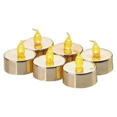 Emos set čajnih svečk, zlat, 6 LED, Vintage