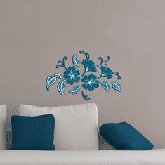 Crearreda zidna dekorativna naljepnica, 3D cvijeće i listovi, M