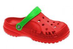 Detské clogsy FLAMEshoes D-3006 červeno-zelené