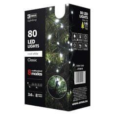 Emos XMAS božične lučke, 80 LED, 8 m, hladna bela