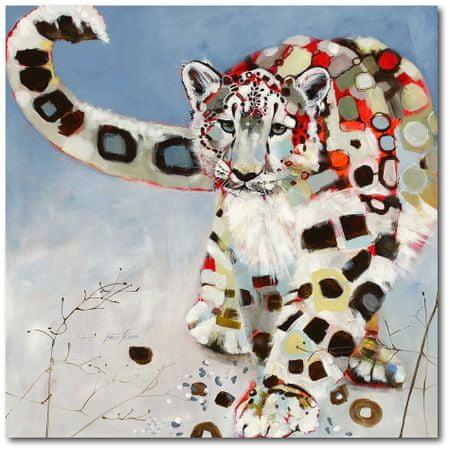 Courtside Market Sněžný levhart - 40 x 40 cm
