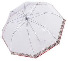 Doppler Dámský holový vystřelovací deštník Fiber Long Automatic transparent Leo 7405427L