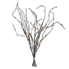 Emos Branch vejice z biseri, 3 kosa, 24 LED žarnice, toplo bele