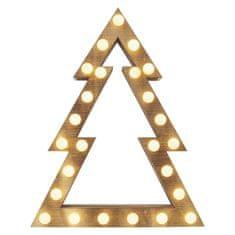 EMOS choinka świąteczna LED, 37 cm, 2 × AA, do wnętrz, ciepła biel, timer