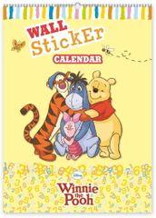 Medvídek Pú W. Disney Medvídek Pú - kalendář se samolepkami na zeď, 33 x 46 cm