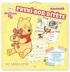Medvídek Pú Poznámkový kalendář Medvídek Pú - První rok dítěte, nedatovaný, 30 x 30 cm