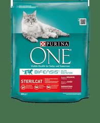 Purina karma sucha dla kotów ONE z wołowiną, dla kotów po sterylizacji 3 kg