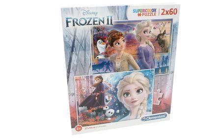 Clementoni Frozen 2 sestavlljanka, 2 x 60 kosov (21609)