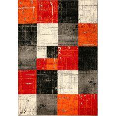 Jutex Koberec Jasper 20762 910 čierna/červená