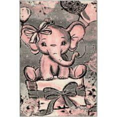 Jutex Detský koberec Playtime 4841A ružový, Rozmery 1.50 x 0.80