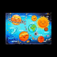 Jutex Detský koberec Torino Kids solar system, Rozmery 1.20 x 0.80