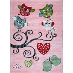 Jutex Detský koberec Playtime 0420A ružový