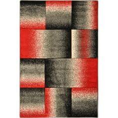 Jutex Koberec Nairobi 4249A sv.červená/tm.šedá