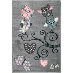 Jutex Detský koberec Playtime 0420A sivý