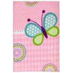 Jutex Detský koberec Lollipop 184 motýľ, Rozmery 1.30 x 0.90