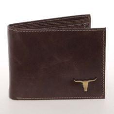 Buffalo Wild Luxusní pánská kožená peněženka Buffalo, hnědá