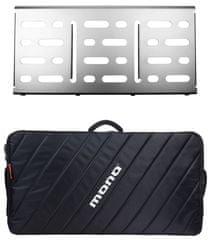 Mono Pedalboard Large Silver + Pro Accessory Case 2.0 Pedalboard