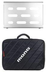 Mono Pedalboard Small Silver + Club Accessory Case 2.0 Pedalboard