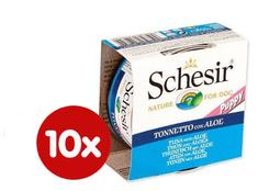 Schesir Konzerv Puppy - tonhal + Aloe 10 x 150 g
