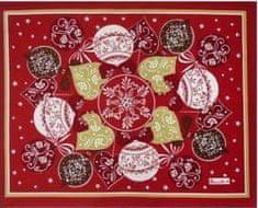 Beauvillé Christmas červená prostírka 38x48 cm, Beauvillé