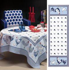 Beauvillé Picoti modrý běhoun 50x150 cm, Beauvillé