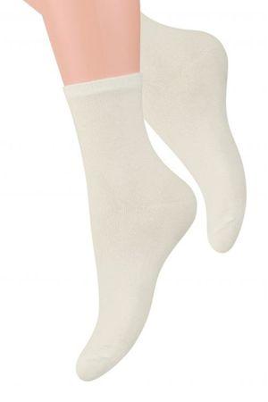 Női zokni 037 ecru + Nőin zokni Sophia 2pack visone, krém, 35/37