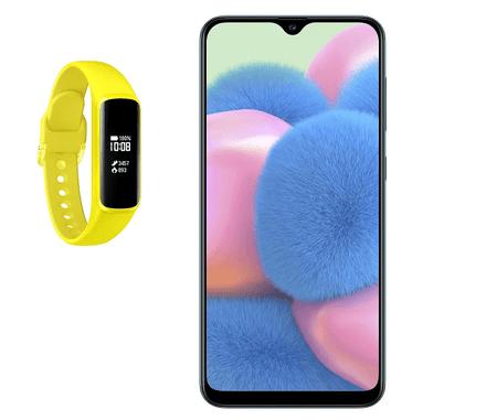 Samsung A307 Galaxy A30s pametni telefon, zelen + R375 Galaxy Fit-e interaktivna športna zapestnica