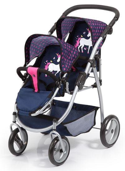 Bayer Design Kočárek Twin Jogger, růžová/modrá