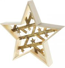 Retlux dekoracja świąteczna RXL 312 gwiazda drewniana 20LED WW