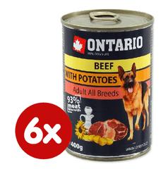 Ontario konzerva hovězí, brambor a slunečnicový olej 6x400g
