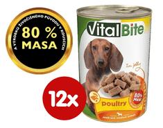 VitalBite hrana za pse, perad u želeu, 12 x 415 g