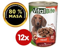 VitalBite hrana za pse, teletina u želeu, 12 x 415 g