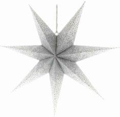 Retlux RXL 341 zvijezda, bijelo-srebrna 10LED WW