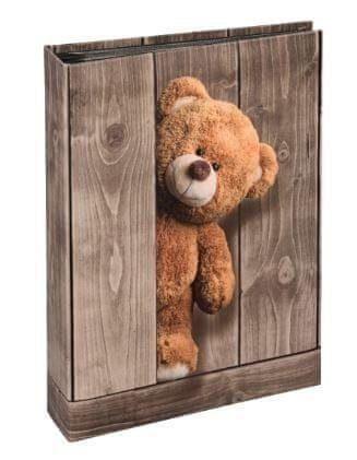 Hama BATZI 10X15 memo foto album, 200 slik, plišasti stoječi medvedek (standing teddy)